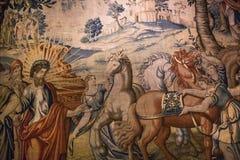 Μεσαιωνικός τάπητας στο κάστρο Ecouen, Ecouen, Γαλλία Στοκ φωτογραφίες με δικαίωμα ελεύθερης χρήσης