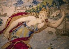 Μεσαιωνικός τάπητας στο κάστρο Ecouen, Ecouen, Γαλλία Στοκ Φωτογραφία