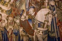 Μεσαιωνικός τάπητας στο κάστρο Ecouen, Ecouen, Γαλλία Στοκ εικόνες με δικαίωμα ελεύθερης χρήσης