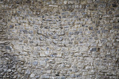 μεσαιωνικός τοίχος σύστασης πετρών κάστρων ανασκόπησης Στοκ Φωτογραφία