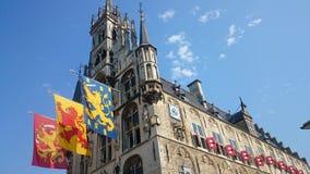 Μεσαιωνικό Δημαρχείο γκούντα Στοκ Εικόνες