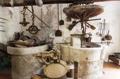 Μεσαιωνικό εργαστήριο για την κατασκευή στο ιστορικό μοναστήρι στη Νάπολη Στοκ φωτογραφία με δικαίωμα ελεύθερης χρήσης