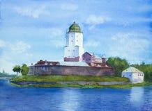 Μεσαιωνικό κάστρο μια θερινή ημέρα Στοκ Φωτογραφίες