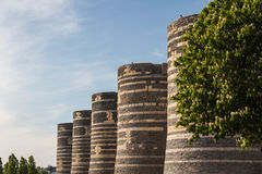 Μεσαιωνικό κάστρο της Angers Στοκ εικόνες με δικαίωμα ελεύθερης χρήσης