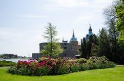 Μεσαιωνικό κάστρο Kalmar μέχρι το καλοκαίρι Στοκ εικόνες με δικαίωμα ελεύθερης χρήσης