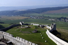 Μεσαιωνικό κάστρο Spissky Hrad στη Σλοβακία Στοκ Εικόνα