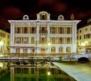 Μεσαιωνικό κτήριο, αποβάθρα Perriere, Annecy, Γαλλία Στοκ φωτογραφίες με δικαίωμα ελεύθερης χρήσης