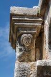Μεσαιωνικό μοναστήρι που χτίζεται πέρα από τις καταστροφές του αρχαίου Apollonia Στοκ εικόνα με δικαίωμα ελεύθερης χρήσης