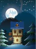 Μεσαιωνικό μόνο σπίτι βουνών Στοκ Εικόνες