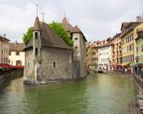 Μεσαιωνικό οχυρό φυλακών στο Annecy, Γαλλία Στοκ φωτογραφία με δικαίωμα ελεύθερης χρήσης