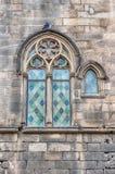 Μεσαιωνικό παράθυρο Placa del Rei, Βαρκελώνη, Καταλωνία, Ισπανία Στοκ Εικόνες