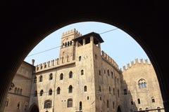 Μεσαιωνικό παλάτι Μπολόνια Ιταλία Στοκ φωτογραφίες με δικαίωμα ελεύθερης χρήσης