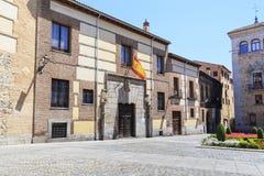 Μεσαιωνικό σπίτι Lujanes Plaza de Λα Villa στη Μαδρίτη Στοκ Φωτογραφίες