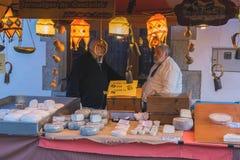 Μεσαιωνικό φεστιβάλ αγοράς στο ισπανικό χωριό Calonge Στοκ φωτογραφίες με δικαίωμα ελεύθερης χρήσης