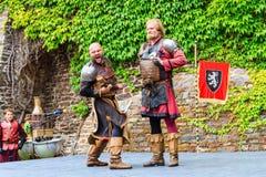 Μεσαιωνικό φεστιβάλ σε Cochem Castle Στοκ εικόνες με δικαίωμα ελεύθερης χρήσης