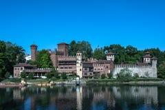 Μεσαιωνικό χωριό στο Τορίνο, Ιταλία Στοκ Εικόνες