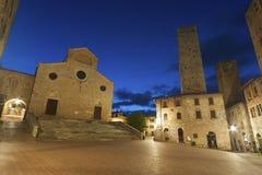 Μεσαιωνικό χωριό SAN Gimignano, Τοσκάνη, Ιταλία, Ευρώπη Στοκ Φωτογραφία