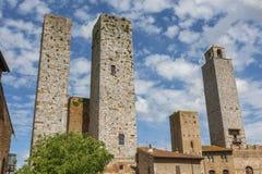 Μεσαιωνικό χωριό SAN Gimignano, Τοσκάνη, Ιταλία Στοκ εικόνα με δικαίωμα ελεύθερης χρήσης