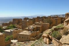 Μεσαιωνικό χωριό Thula, Υεμένη Στοκ Εικόνες