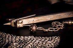 μεσαιωνικό όπλο Σφυρί σιδήρου με prongs Στοκ φωτογραφία με δικαίωμα ελεύθερης χρήσης