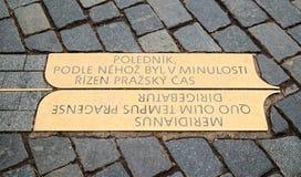 Μεσημβρινός της Πράγας Στοκ εικόνα με δικαίωμα ελεύθερης χρήσης