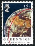 Μεσημβρινό γραμματόσημο του Γκρήνουιτς Στοκ Εικόνες
