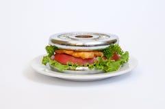 μεσημεριανό γεύμα αθλητών Στοκ φωτογραφία με δικαίωμα ελεύθερης χρήσης