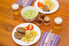 Μεσημεριανό γεύμα για δύο Στοκ Φωτογραφίες