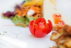 Μεσημεριανό γεύμα με την ντομάτα Στοκ φωτογραφία με δικαίωμα ελεύθερης χρήσης