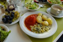μεσημεριανό γεύμα σε ένα σανατόριο στοκ φωτογραφία με δικαίωμα ελεύθερης χρήσης