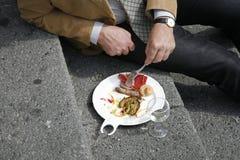μεσημεριανό γεύμα σπασιμά&ta Στοκ φωτογραφία με δικαίωμα ελεύθερης χρήσης