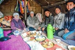 Μεσημεριανό γεύμα στη σκηνή στο Κιργιστάν Στοκ Φωτογραφίες