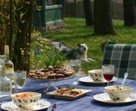 Μεσημεριανό γεύμα στον κήπο Στοκ εικόνες με δικαίωμα ελεύθερης χρήσης