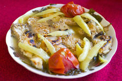 μεσημεριανό γεύμα ψαριών στοκ εικόνες με δικαίωμα ελεύθερης χρήσης