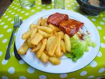 Μεσημεριανό γεύμα azay-LE-Rideau Στοκ Φωτογραφία