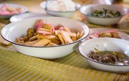 Μεσημεριανό γεύμα Backpackers στην Ταϊλάνδη Στοκ Εικόνες