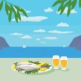 Μεσογειακή έννοια κουζίνας Στοκ εικόνες με δικαίωμα ελεύθερης χρήσης