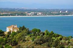 Μεσογειακή ακτή στο νότο της Roussillon Στοκ Φωτογραφίες
