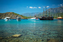 Μεσογειακή ακτή, Τουρκία Kemer Στοκ Φωτογραφίες