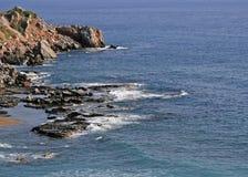 Μεσογειακή ακτή Στοκ Εικόνες