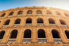Μεσογειακή αρχιτεκτονική plaza de toros αρένα ταυρομαχίας στη Βαλένθια Στοκ Εικόνες