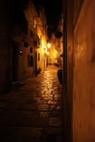 μεσογειακή οδός νύχτας Στοκ φωτογραφία με δικαίωμα ελεύθερης χρήσης
