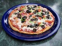 μεσογειακή πίτσα Στοκ Εικόνες