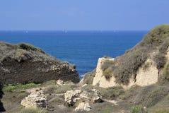 Μεσογειακή παραλία, Ισραήλ Στοκ Εικόνες