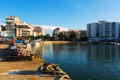 μεσογειακή πόλη χαρακτη&rh L'Ampolla Στοκ φωτογραφία με δικαίωμα ελεύθερης χρήσης