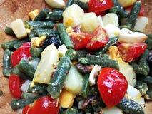 Μεσογειακή σαλάτα των πράσινων φασολιών στοκ φωτογραφία