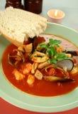 μεσογειακή σούπα θαλα&sigm Στοκ εικόνες με δικαίωμα ελεύθερης χρήσης