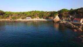 Μεσογειακός εναέριος κηφήνας Κόστα Μπράβα παραλιών ακτών φιλμ μικρού μήκους
