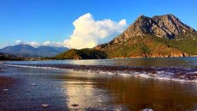 Μεσογειακός κόλπος Adrasan Kemer Καλή θέση των τουριστών Τρόπος Lycian Περιήγηση με τα πόδια φιλμ μικρού μήκους