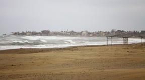 μεσογειακός seacoast χειμώνας Στοκ εικόνες με δικαίωμα ελεύθερης χρήσης